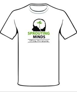 Sprouting mind shirt front